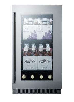 CL181WBVCSS 18 Inch Wide Built-In Beverage Center
