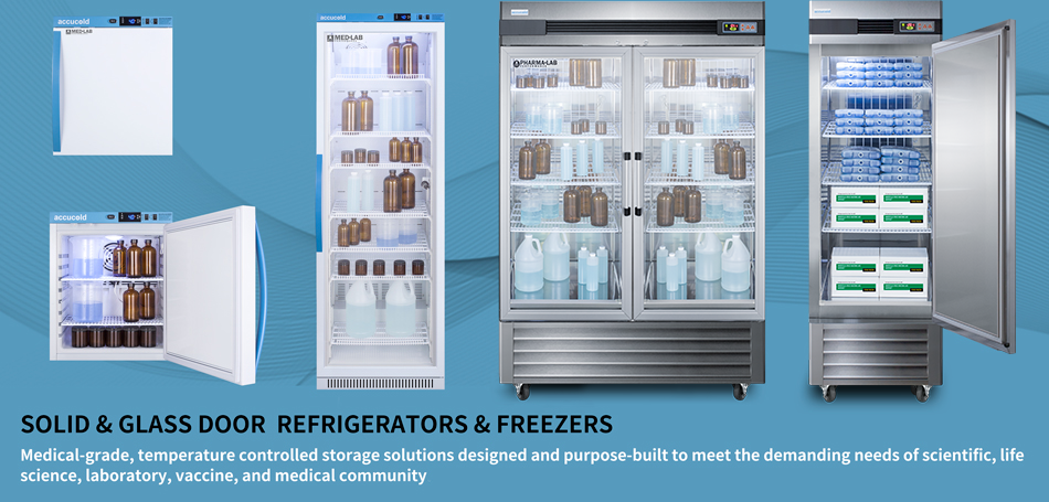 Medical Performance Series Solid & Glass Door Refrigerators From 1 To 15 CU. FT.