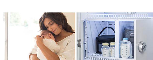 Breast milk storage locker detail