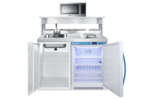 """48"""" Wide All-In-One Wellness Room Kitchenette with Microwave"""