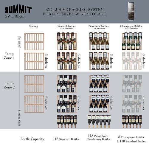SWC1875BCSS Wine Cellar