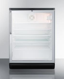 SCR600BGLTB Refrigerator Front