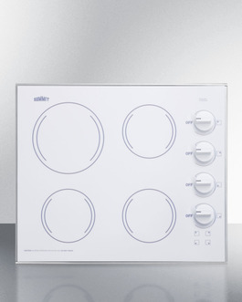 CR425WH Electric Cooktop Front