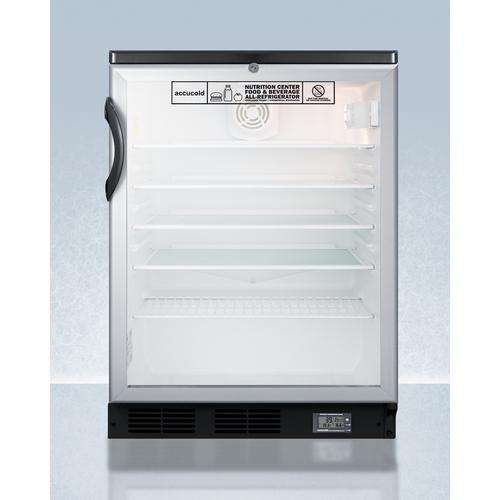 SCR600BGLBINZ Refrigerator Front