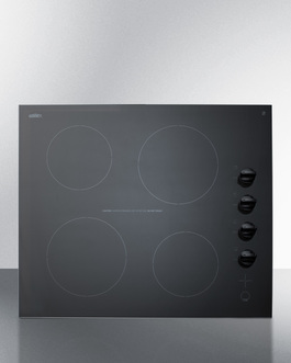 CR4B242BL Electric Cooktop Front