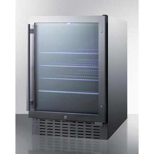 SCR2466BCSS Refrigerator Angle