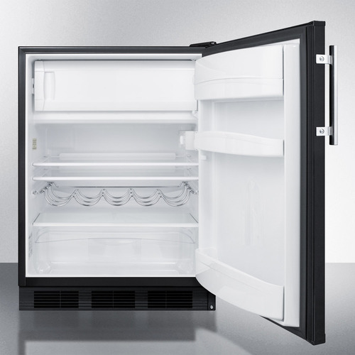 CT663BK Refrigerator Freezer Open