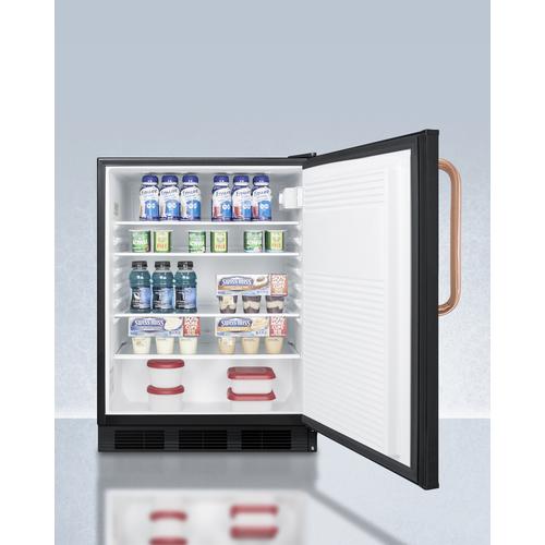 FF7LBLKBITBCADA Refrigerator Full