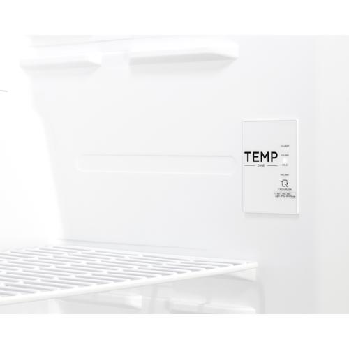 UF18W Freezer Detail