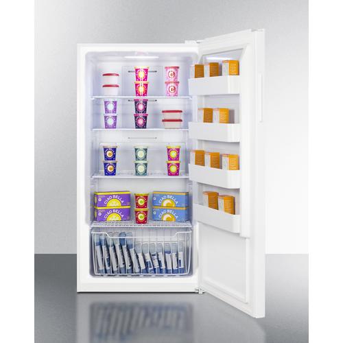 UF18W Freezer Full