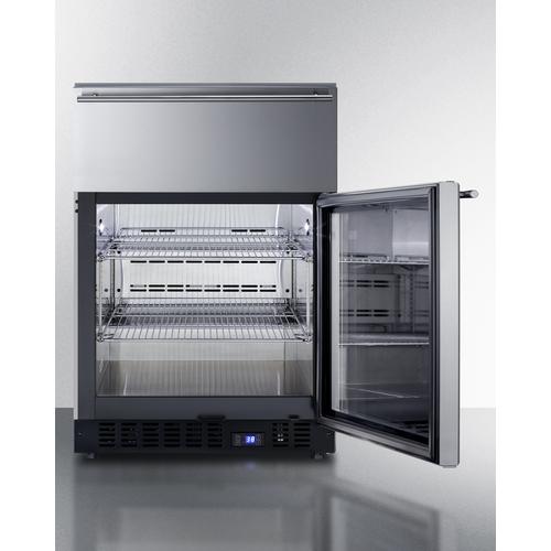 SCR615TDCSS Refrigerator Open