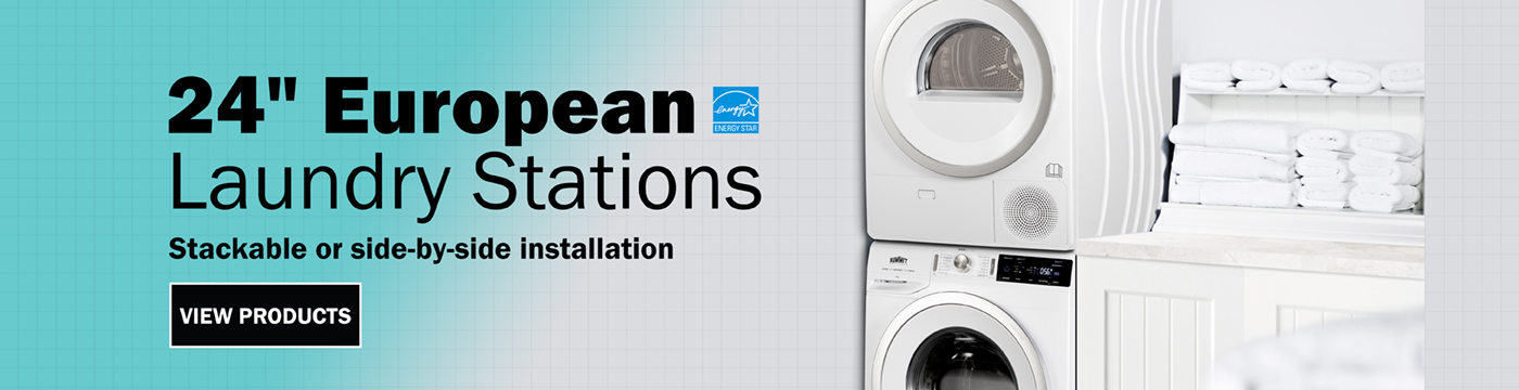 """24"""" European Laundry Stations by Summit Appliance"""