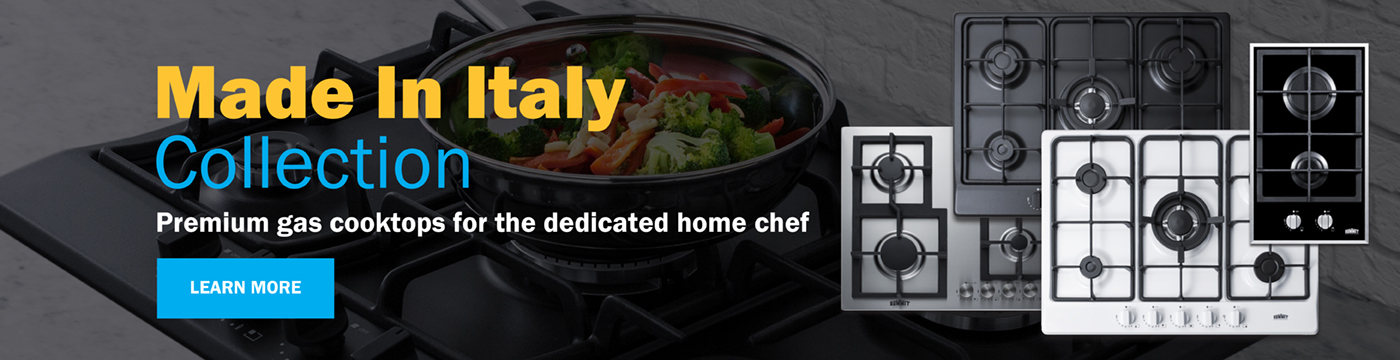 Made In Italy Collection: Premium gas cooktops for the dedicated home chef